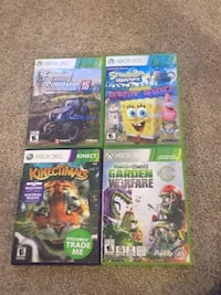 four assorted Xbox 360 game cases Cambridge, N1R 7G3