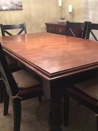 Malaysian hardwood table and six chairs  Oakville, L6H 6A8