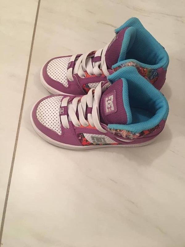 DC girls shoes size 12