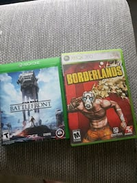 Battlefront and Borderlands Xbox One games 1816 mi