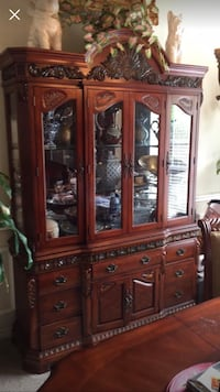 brown wooden china buffet hutch Lewisville, 75067