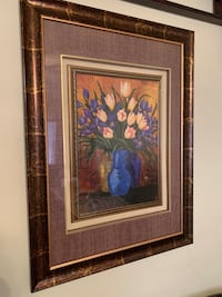 Matted picture frame in 3-D frame