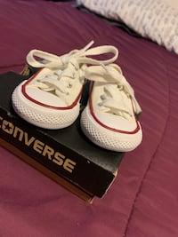 Brand new baby size 2 converse low-tops Quincy, 02169