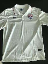 Excellent condition Nike Men Large US Soccer Authentic Home Jersey Polo Miami
