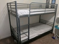 black metal bunk bed with white mattress Virginia Beach, 23455