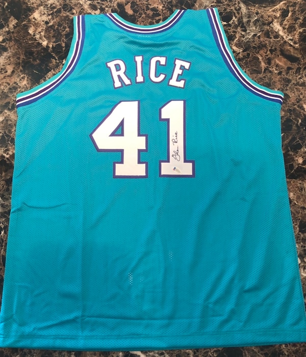 size 40 7790c 92c43 Authentic Glen Rice Signed Charlotte Hornets Jersey