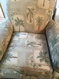 brown and green floral fabric sofa chair Goose Creek, 29445