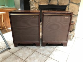 Vintage Magnavox stereo cabinets. 1960s.