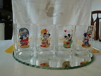 Vintage set of 4 mickey mouse glasses Mississauga, L5R 2A4