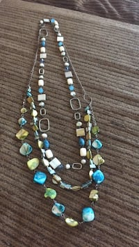 Bead n She'll turquoise n green 3 chain necklace Tucson, 85730