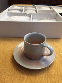 New set of 6 cappuccino cups & saucers