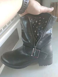 Crop Wedge Leather Boots Toronto, M8Z 2A2