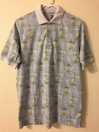 Gray-and-yellow pineapple  shirt