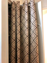 light brown / beige grommet curtains 6 panels Oakville