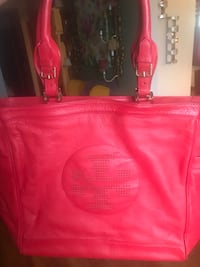 Red tory burch leather bag Linden, 07036