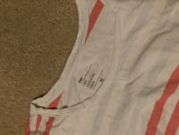 white and red Adidas tank top Centreville, 20121