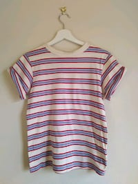 TOPSHOP white and red stripe crew neck shirt Greater London, SE19 3NL