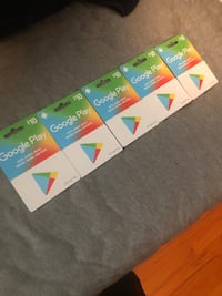 Google play gift cards  Pawtucket, 02861