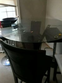 black wooden base glass top table Washington, 20019