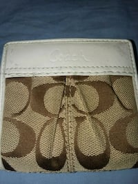 brown and white Coach leather wallet Des Moines, 50315