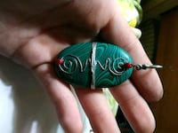 Malachite with red coral accents pendant Valdese, 28690