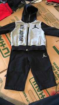 gray and black Air Jordan hoodie size 12 months Vacaville, 95687
