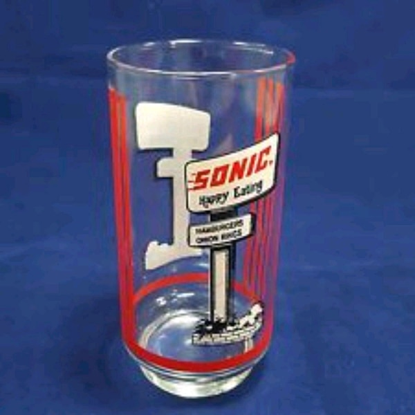 Vintage sonic drive in glass