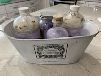 French look container & bath salts