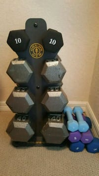 Gold's Gym dumbbells/work out equipment