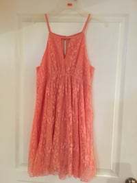 Mendocino small coral lace dress Vaughan, L6A 2R1