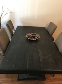 6 chair black rustic table Ashelys furniture  Lancaster