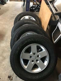 Jeep Wrangler rims and tires New Milford, 07646