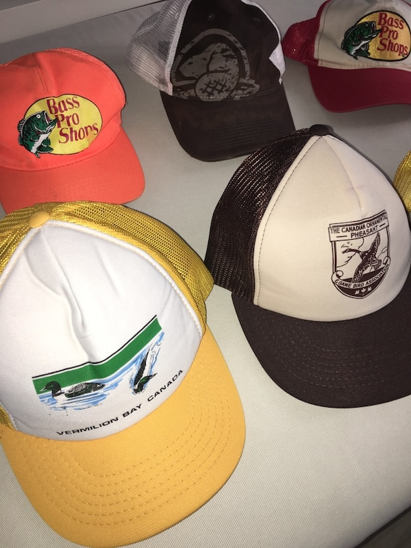 32f09364e2dd1 Used Outdoor trucker baseball hats 10  each good condition for sale ...