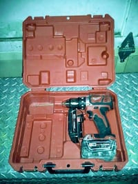 red and black cordless hand drill set in case Surrey, V3R 3W7
