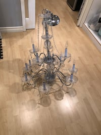 Gray and white uplight chandelier negotiable Laval, H7K 3M3