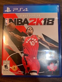 PS4 Nba 2K18 Barrie, L4N 6R7