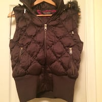 Talula Quilted zip-up vest brown Toronto, M9N 3L4