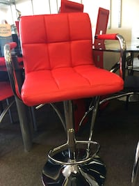 red leather padded rolling chair Houston, 77077