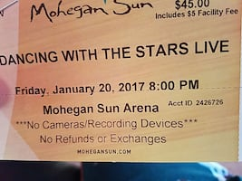 2 tickets dancing with the stars live
