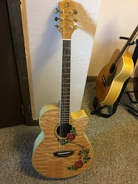 Acoustic/Electric Luna-Flora guitar.  Iberia, 65486