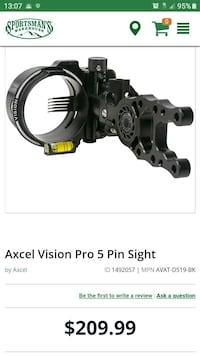 Axcel Vision Pro 5 Pin Archery Sight