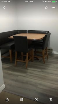 brown wooden dining table set Toronto, M6H 1H4