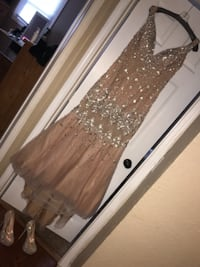 women's brown sleeveless dress 568 mi
