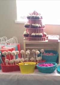 Cupcake Stands x 2 - Carnival themed Surrey, V3S