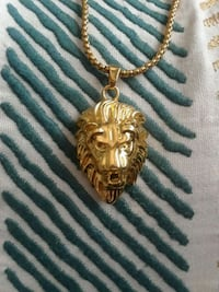 Large gold plated lion head Revere, 02151