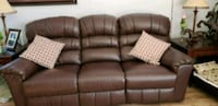 brown leather 3-seat sofa Moncton, E1A 0N4