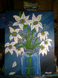 Flower paintings 11x14 acrylics Chandler, 85226