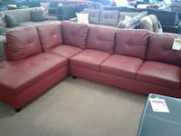 Red leather sectional sofa Phoenix, 85018