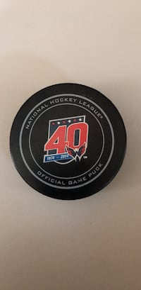 2014 40th Anniversary Washington Capitals Official Game Puck Dunkirk, 20754