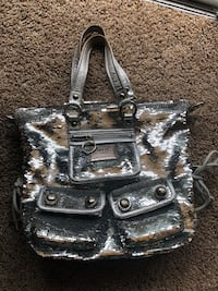 black and gray leather shoulder bag Ogden, 84404